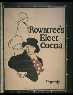 This is a poster for Rowntree's cocoa. James Pryde (1866-1941) and William Nicholson (1872-1949) were primarily fine artists. But between 1894 and 1896, under the name of 'The Beggarstaffs', they also designed posters as a source of income. They were initially inspired by the French artists Jules Chéret (1836-1932) and Toulouse-Lautrec (1864-1901), and also by English artists such as Dudley Hardy (1867-1922). For them, poster design was an artistic challenge. They devised an innovative…