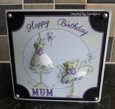MOTHERS BIRTHDAY CARD USING THE FABULOUS FASHION CD-ROM BY KATY SUE DESIGNS X