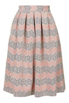 PETITE Jacquard Midi Skirt