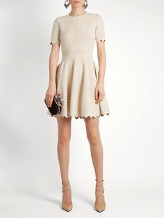 Click here to buy Alexander McQueen Lace-jacquard jersey dress at MATCHESFASHION.COM