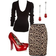 You can never go wrong with leopard and red
