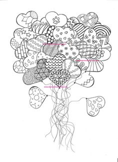Adult Coloring Page For Grown Ups Heart By BigTRanchSoap On Etsy