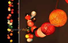 20/35 COTTON BALL FAIRY LED STRING LIGHTS WEDDING PARTY PATIO CHRISTMAS DECOR HI #Eyourlife