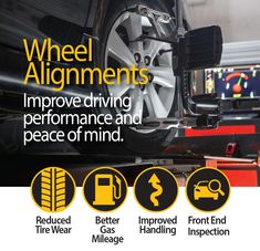Sullivan Tire and Auto Service can align your vehicle to ensure you have perfect handling and to maximize the life of your tires. Wheel Alignment, Auto Service, Peace Of Mind, Vehicle, Cars, Learning, Life, Autos, Studying