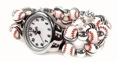 Viva Beads Baseball Watches. Put a D on it and I'm sold!