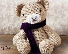 Instant Download Crochet pattern PDF Teddybear Bear by CreaLien