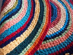 Crayons 4' x 4'  Area Rag Rug by CharsVintageShop on Etsy, $145.00