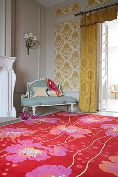 Florence Broadhurst rug.  I can see it paired with contemporary furniture.  Great for my imaginary downtown penthouse.