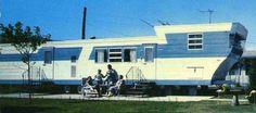 Vintage 1960 Custom Landola Mobile Home Double Decker Travel Trailer Postcard Retro Trailers, Custom Trailers, Vintage Travel Trailers, Camp Trailers, Trailer 2, Vintage Rv, Vintage Caravans, Vintage Campers, Mobile Home Living
