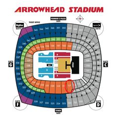 Arrowhead stadium one of the prettier nfl stadiums seating