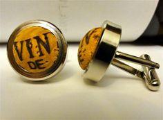 Custom Cork Cufflinks