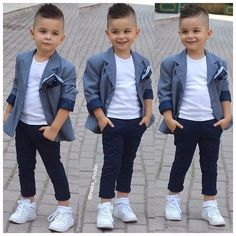 Ideas baby boy outfits swag casual for 2019 Little Boy Outfits, Little Boy Fashion, Kids Fashion Boy, Toddler Boy Outfits, Toddler Fashion, Toddler Girl, Girl Fashion, Fashion Dresses, Baby Boy Dress
