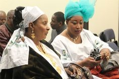 Mali women in traditional African dress in the Bronx