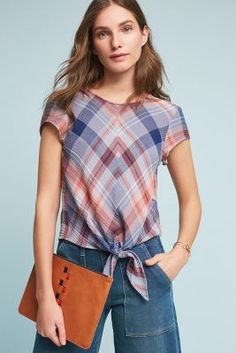 Shop the Plaid Tie-Front Blouse and more Anthropologie at Anthropologie today. Read customer reviews, discover product details and more.
