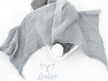 Baby Wrap Bio Gaze-Baumwolltuch transparent Grau