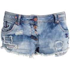 Soul Cal Deluxe Embellished Anchor Hotpants ($46) ❤ liked on Polyvore