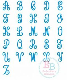 Embroidery Boutique's Perfectly Posh Monogram Alphabet is perfect for monograms, perfect with add ons, perfect with just an initial, perfect for linens and towels, perfect for everything. We are in love with the Perfectly Posh Monogram Alphabet. 14 sizes included!! 1.5, 2, 2.5, 3, 3.5, 4, 4.5, 5, 5.5, 6, 6.5, 7, 7.5, and 8 inches! Zip file includes formats: ART, BX, DST, EXP, HUS, JEF, PES, VIP, VP3, XXX