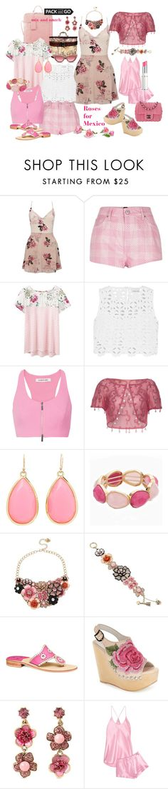 """pack to go to Mexico"" by susan-993 ❤ liked on Polyvore featuring Lipsy, River Island, Joules, Miguelina, Elizabeth and James, Kate Spade, Dana Buchman, Betsey Johnson, Jack Rogers and Jeffrey Campbell"
