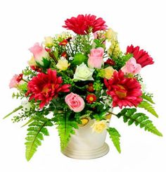Cheapest international flower delivery service in USA with same day flower delivery by FlowerAdvisor international florist. Send flowers online internationally, gifts, bouquet of roses to someone overseas. Red Rose Bouquet, Spring Bouquet, Spring Flowers, Silk Flowers, Spring Flower Arrangements, Artificial Floral Arrangements, Artificial Flowers, Flower Delivery Service, Same Day Flower Delivery