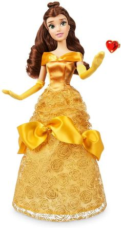 Disney Belle Classic Doll with Ring - Beauty and The Beast - 11 ½ Inches Disney Princess Dolls, Disney Rapunzel, Princess Belle, Disney Dolls, Barbie Dolls, Lego Marvel's Avengers, Party Frocks, Disney Sketches, Diy Doll