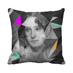 Geometric Lord and Lady Portrait Cushions | i love retro