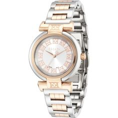 3a30be26bf44 Shop Lauren Two-Tone Bracelet Watch, Silver/Rose Golden from Escada at  Neiman Marcus Last Call, where you'll save as much as on designer fashions.