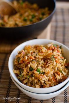 Mixed Vegetable Rice | Slimming Eats - Slimming World Recipes