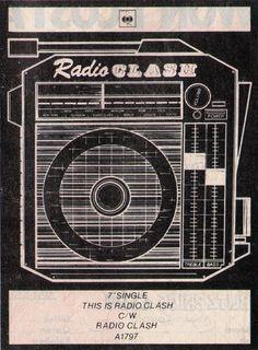 Radio Clash: record release flyer