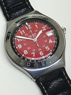 Vintage Swatch Watch Happy Joe Red YGS408 1997 by ThatIsSoFunny
