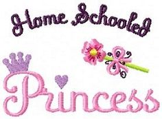 Home Schooled Princess - 4x4 | Princess | Machine Embroidery Designs | SWAKembroidery.com Oma's Place