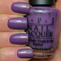 Dutch Ya Just LOVE OPI?? . . . Here's another great one from the Holland Collection.  Don't you love the subtle gold shimmer in this gorgeous purple?