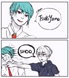 Tsukiyama Shuu and Kaneki Ken ||| Tokyo Ghoul Fan Art by ouo-b on Tumblr