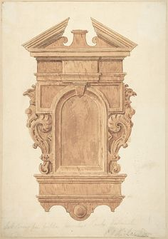 Design for Oak Carving, from the Fireplace, Jerusalem Chamber, Westminster