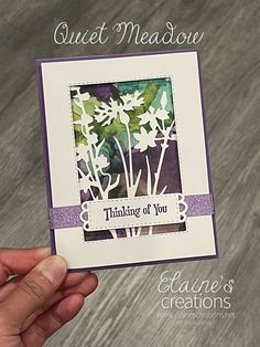 Learn how to make this card with Stampin' Up!'s Quiet Meadow stamp set and Meadow Dies in this video tutorial!