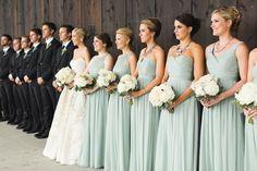Photography: Ashley Caroline Photography   www.ashley-caroline.com Bridesmaids' Dresses: JCrew   www.jcrew.com/index.jsp Wedding Dress: Amsale   amsale.com/   View more: http://stylemepretty.com/vault/gallery/34993