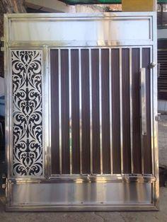 Steel Grill Design, Steel Gate Design, Grill Door Design, New Gate Design, Front Gate Design, Entrance Decor, Entrance Gates, Design Your Dream House, Modern House Design