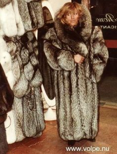 Big fox fur coat
