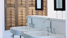 Normandy Shutters are made from the world's fastest growing tree species, our Normandy timber shutters are not only gentle to the touch, but are gentle on the environment too. Fast Growing Trees, Wood Shutters, Normandy, Sink, Bathtub, Bathroom, Home Decor, Fastest Growing Trees, Normandie