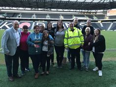 Pitchside with John Cove MK Dons FC MK Dons SET Matt Cove all litter cleared before the litterpickers arrived! #proud #teamkaizen #lovinit