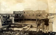 Midway Ballroom in Cedar Lake was destroyed by fire but it was originally called Midway Gardens- photo is from 1935.