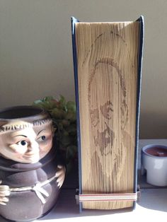 CIJ Sculpture book, book art with a replica of an image of Padre Pio, gift for him, gift for Padre Pio devout, gift for catholic, catholic i - €27.00 EUR