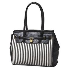 Bueno Striped Canvas Tote - Black/White : Target - StyleSays