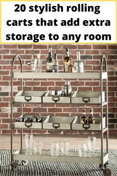 Distressed metal cart for your home