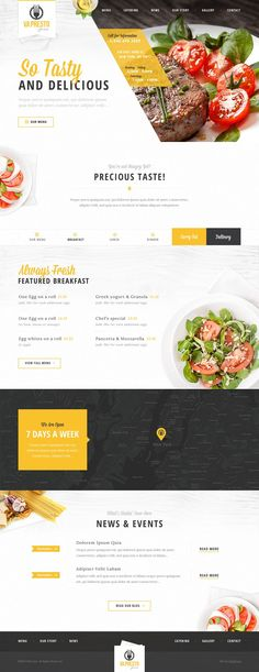 restaurant website idea. #webdesign #inspiration
