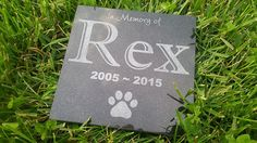 Personalised Pet Stone Memorial Marker Granite Marker Dog Cat Horse Bird Human 6' X 6' Custom Design Personalizd Basset Hound German Shepherd ** Click image for more details. (This is an Amazon affiliate link)
