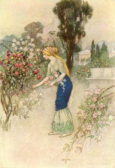 Emily in the Garden, Warwick Goble