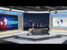 News Studio 099 Stock After Effects, Tv Set Design, Stage Set, News Studio, After Effects Templates, Dna, Drawing, Sketches, Drawings, Draw