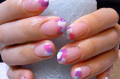 Uñas con puntos de confeti   Las uñas Hokuri son las más Kawaii de todos los tiempos