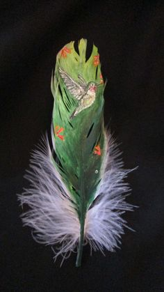 Thank you for visiting my shop. This listing is for a hand painted goose feather. I love painting on unusual objects. - 8/31