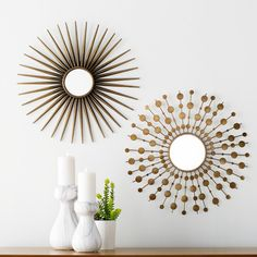 You'll love the 2 Piece Sunburst Mirror Set at Wayfair - Great Deals on all Décor  products with Free Shipping on most stuff, even the big stuff.